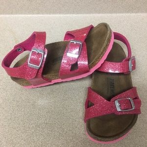 BIRKENSTOCK KIDS buckled glitter sandals size 26
